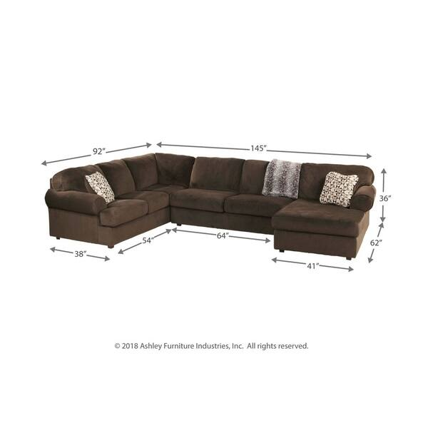 Peachy Shop Jessa Place Chocolate 3 Piece Sectional On Sale Gmtry Best Dining Table And Chair Ideas Images Gmtryco