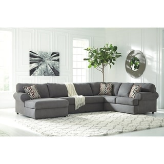 Jayceon 3-Piece Sectional with Left Facing Chaise - Steel