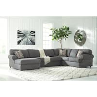 Jayceon 3-Piece Sectional - LAF Corner Chaise, Armless Loveseat & RAF Sofa - Steel