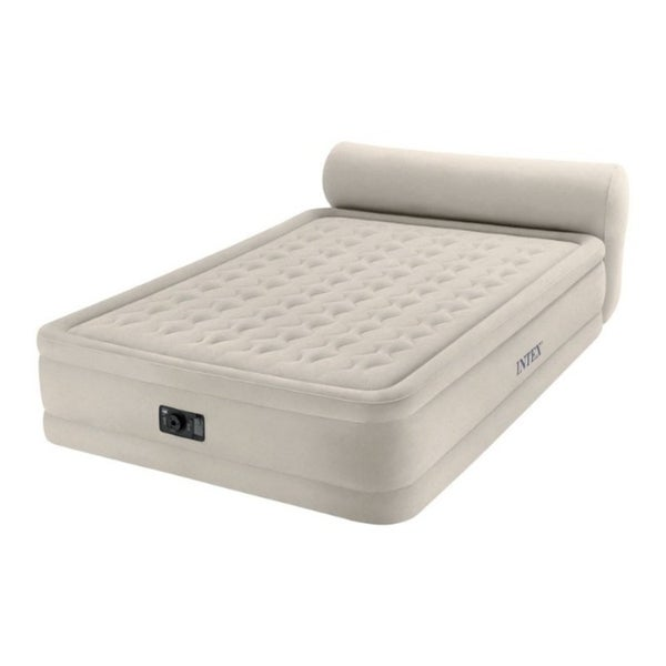 Shop Intex Dura Beam Air Mattress Queen Pump Included