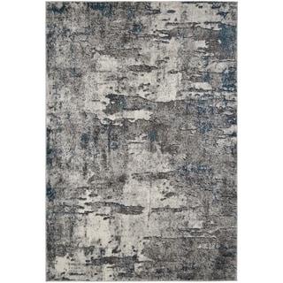 Synergy Cream Blue Contemporary Stylish Abstract Area Rug