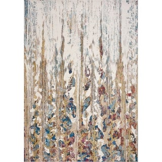 Domani Artisan Ivory Modern Watercolor Area Rug