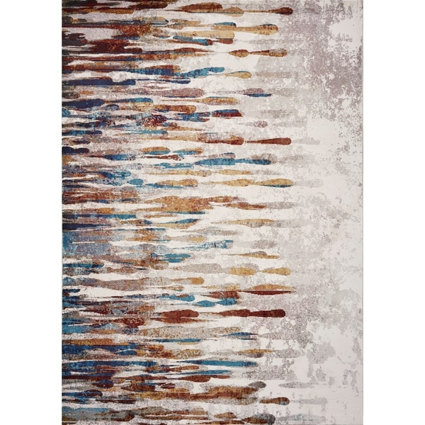 Domani Artisan Ivory Contemporary Art Area Rug