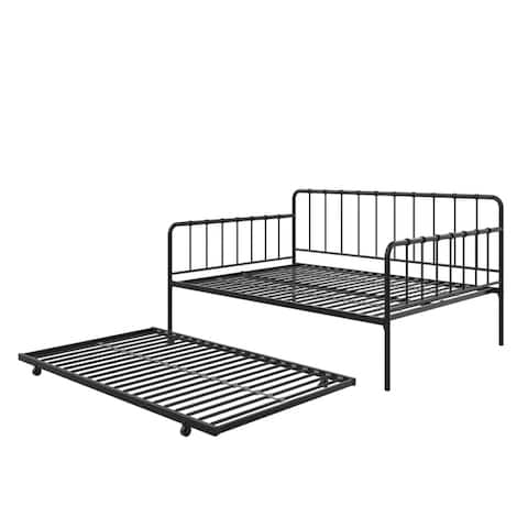 Porch & Den Alderview Metal Daybed and Twin Trundle Set