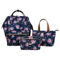 Elisavbet Posy Women's 3-Piece Collection Backpack with Tote & Cosmetic Pouch