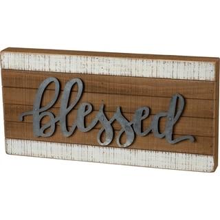 Slat Box Sign - Blessed