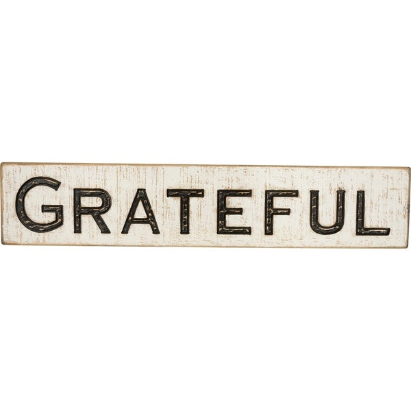 Carved Sign - Grateful