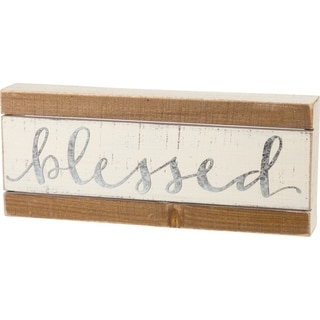 Slat Box Sign - Blessed