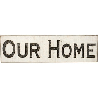 Carved Sign - Our Home