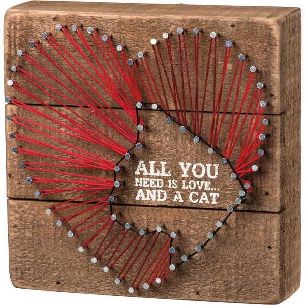 String Art - All You Need Is Love And A Cat Heart