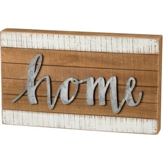 Slat Box Sign - Home