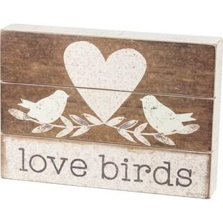 Slat Box Sign - Love Birds
