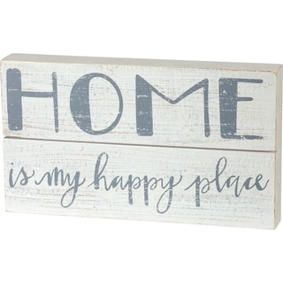 Slat Box Sign - Home is My Happy Place