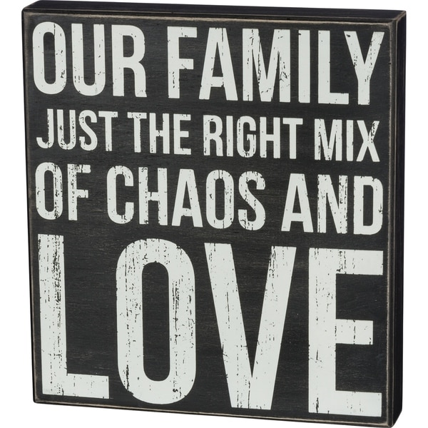 Box Sign - Chaos and Love