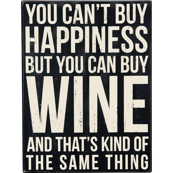 Box Sign - Can Buy Wine