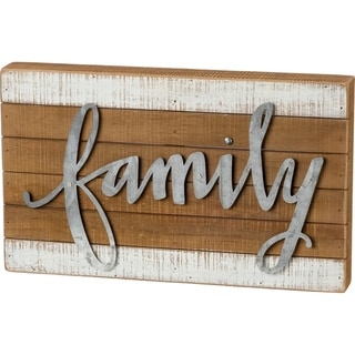 Slat Box Sign - Family