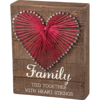 String Art - Family Tied Together With Heart