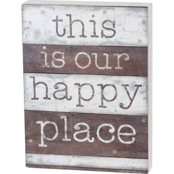 Box Sign - This Is Our Happy Place