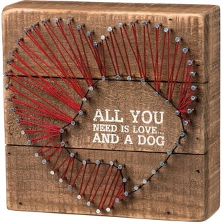 String Art - All You Need Is Love And A Dog Heart
