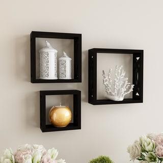Porch & Den Gala Open Cube Wall Shelf Set with Hidden Brackets