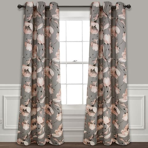 Silver Orchid Lane Blackout Window Curtain Panel Pair