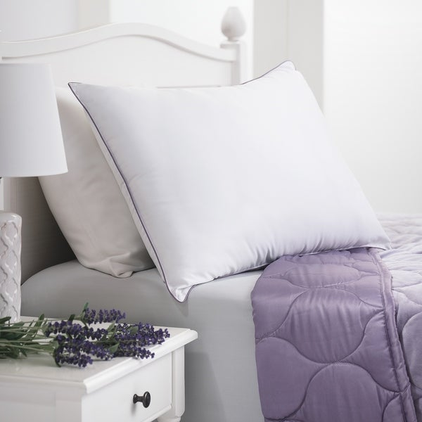 Aromatherapy Lavender Scented Down Alternative Pillow - White