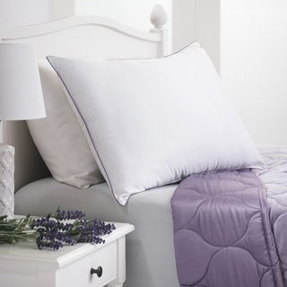 Aromatherapy Lavender Scented Down Alternative Pillow - White