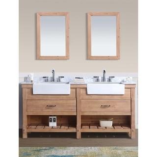 "Marina 72"" Bathroom Vanity, Driftwood Finish"