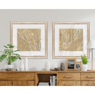 Birch Wood I -2 Piece Set - 16 x 16