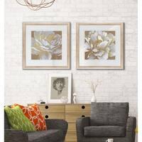 Golden Bloom -2 Piece Set - 16 x 16