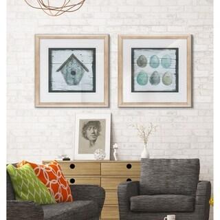 Stained Birdhouse -2 Piece Set - 16 x 16