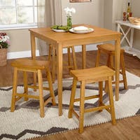 Simple Living Belfast 5-piece Saddle Dining Set
