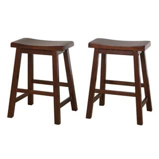 Simple Living Belfast 24-inch Saddle Stool (Set of 2)|https://ak1.ostkcdn.com/images/products/2646389/P10849413.jpg?impolicy=medium