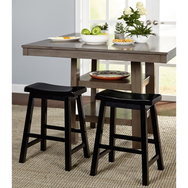 Counter Stools Overstock: Shop Simple Living Belfast 24-inch Saddle Stool (Set Of 2