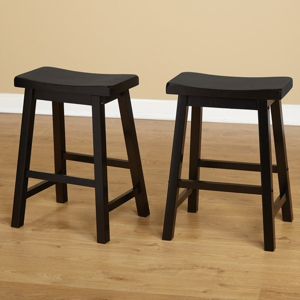 Simple Living Belfast 24-inch Saddle Stool (Set of 2) - Free Shipping Today - Overstock.com - 10849426 & Simple Living Belfast 24-inch Saddle Stool (Set of 2) - Free ... islam-shia.org
