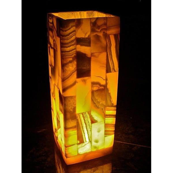 Handmade Alabaster Mosaic Lamp (Egypt). Opens flyout.