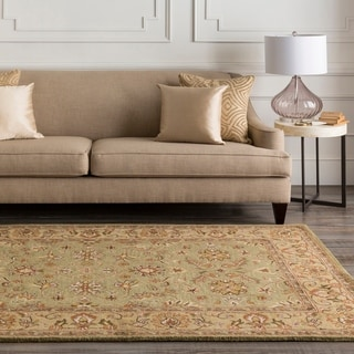 """Hand-Tufted Camelot Collection Traditional Wool Rug (2'6"""" x 8')"""