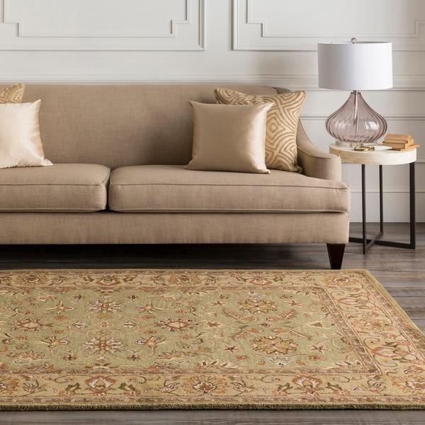Hand-Tufted Camelot Collection Oriental Wool Area Rug - 8' x 11'