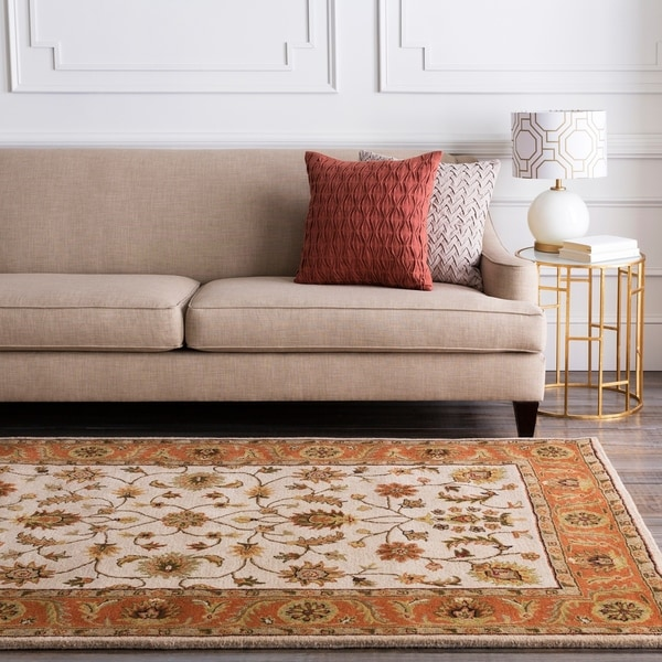 Hand-tufted Camelot Beige Wool Area Rug - 6' x 9'
