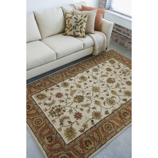 Hand-tufted Camelot Beige Wool Rug (8' x 11')