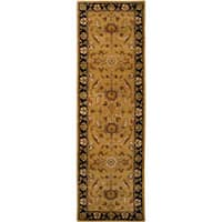 Hand-tufted Camelot Gold Floral Wool Area Rug (2'6 x 8')