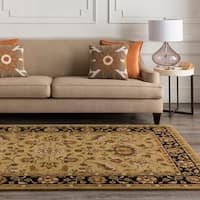Traditional Hand-Tufted Camelot Collection Wool Area Rug - 6' x 9'