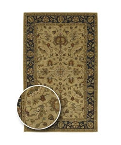 Traditional Hand-Tufted Camelot Collection Wool Rug (6' x 9')