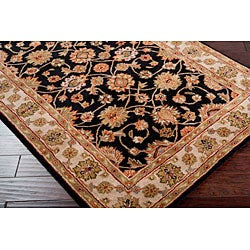 Hand-tufted Camelot Black Wool Rug (4' x 6') - Thumbnail 2