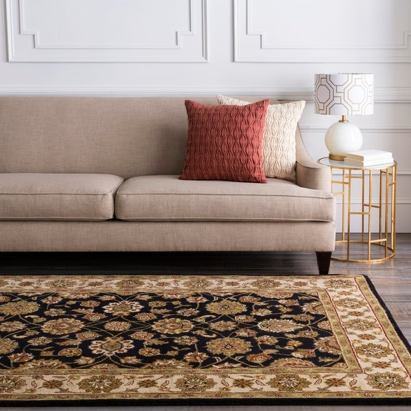 Hand-tufted Brown Wool Area Rug - 6' x 9'