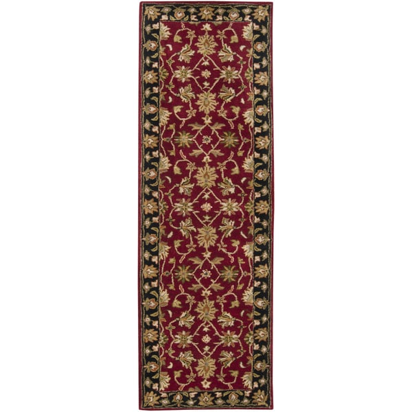 Shop Laurel Creek George Hand Tufted Burgundy Wool Runner