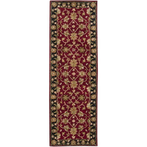 "Copper Grove Mertensia Hand-tufted Burgundy Wool Runner Rug - 2'6"" x 8' Runner"