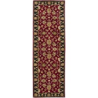 Laurel Creek George Hand-tufted Burgundy Wool Runner Rug - 2'6 x 8'