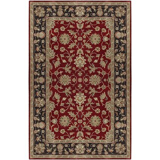 Hand-tufted Camelot Red Wool Rug (4' x 6')