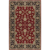 Laurel Creek George Hand-tufted Red Wool Area Rug - 4' x 6'